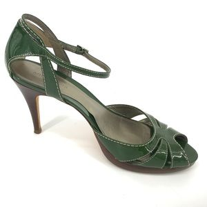 Ann Taylor Green Patent Leather Heels